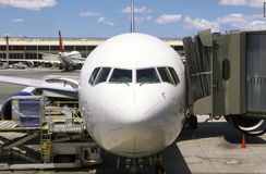 Airplane At Terminal Stock Image
