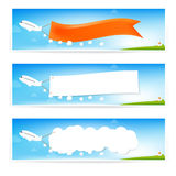 Airplane and text flag Royalty Free Stock Photo
