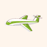 Airplane theme elements vector,eps Royalty Free Stock Image