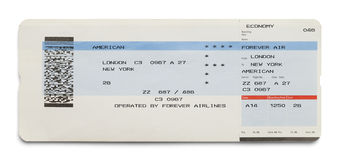 Airplane Ticket Royalty Free Stock Photo
