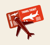 Airplane ticket Royalty Free Stock Photos