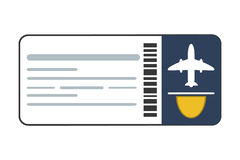 Airplane ticket icon Royalty Free Stock Photo