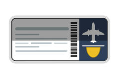 Airplane ticket icon Royalty Free Stock Photography