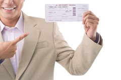 Airplane ticket Stock Image
