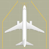 Airplane. Top view. Aircraft parking apron. Top view. Vector illustration. EPS 10. Opacity stock illustration