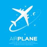 Airplane top view symbol. Stock Image