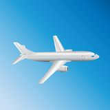 Airplane top view. Royalty Free Stock Photos