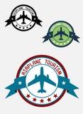 Airplane tour logo Stock Photo
