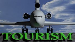 Airplane Tourism Royalty Free Stock Photography
