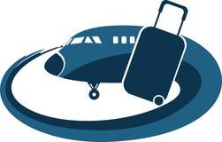 Airplane tourist logo Royalty Free Stock Photo