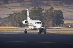 Airplane Towing & Parking. Gulfstream G-1159B Gulfstream II-B Royalty Free Stock Photo
