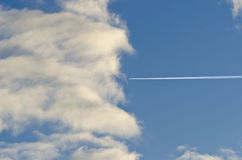 Airplane track Royalty Free Stock Photo