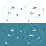 Airplane traffic around the world Royalty Free Stock Image