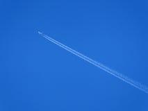 Airplane trail Stock Photo
