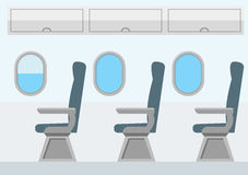 Airplane Transport Interior. Jet for Travel. Vector. Airplane Transport Interior. Jet for Travel. Flat Design Style. Vector illustration Stock Photography