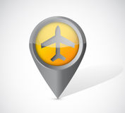 Airplane transportation pointer illustration Stock Image