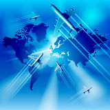 Airplane transportation Stock Image