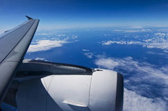 Airplane travel Royalty Free Stock Photography