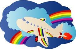 Airplane travel. Illustrations vector of Airplane travel stock illustration