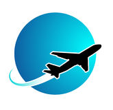 Airplane travel. Around the world Royalty Free Stock Photography