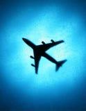 Airplane Travel Blue Sky Silhouette Royalty Free Stock Photos