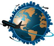 Airplane travel concept Royalty Free Stock Photography