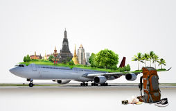 Airplane Travel, concept Stock Images