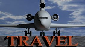 Airplane Travel Royalty Free Stock Images