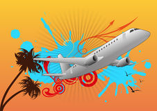 Airplane travel Stock Image