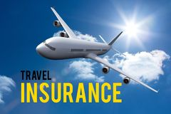 airplane travel insurance graphic Royalty Free Stock Image