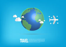 Airplane Travel. Royalty Free Stock Images