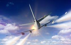 Airplane Traveling Stock Photos