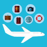 Airplane and travels Stock Photography