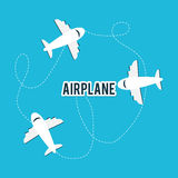 Airplane and travels Stock Photo