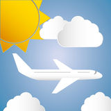 Airplane and travels Royalty Free Stock Image