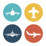 Airplane and travels Stock Photos