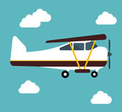 Airplane and travels Stock Image