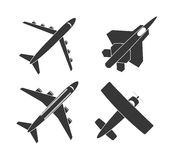 Airplane and travels Stock Images