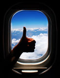 Airplane trip Royalty Free Stock Image