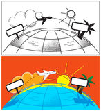 Airplane trip, holiday, vacation stock photos