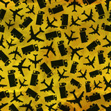 Airplane and truck. Seamless pattern. Royalty Free Stock Image