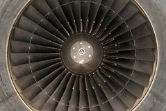 Airplane turbine Stock Image