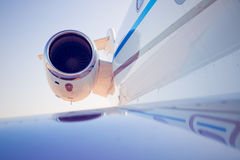 A airplane turbine detail Royalty Free Stock Images