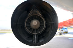 Airplane Turbine Spinning. Spinning Airplane Turbine Detail/Istanbul Stock Photo