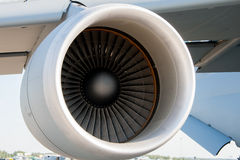 Airplane turbine Royalty Free Stock Images