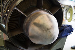 Airplane Turbine. This is a Turboprop turbine Stock Images