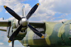 Airplane turboprop engine Royalty Free Stock Photography