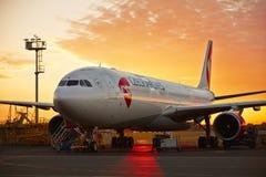 Airplane under maintenance Stock Photography