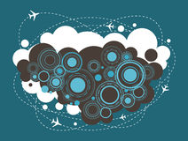 Airplane urban design, infographic, icon Royalty Free Stock Photography