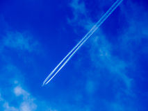 Airplane Vapor Trail Royalty Free Stock Images